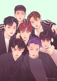 Kim Jinhwan, Chanwoo Ikon, Got7 Fanart, Kpop Fanart, Yg Entertainment, Yg Groups, K Pop, Bobby, Superman Baby