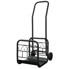 Large Black Log Rack with Wheels and Removable Cart #LearnShopEnjoy