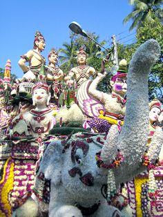 Het Chiang Mai Flower Festival vindt plaats in de eerste week van Februari.