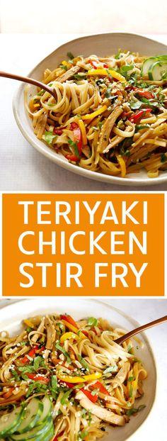 Roast Chicken Curry, Teriyaki Chicken Noodles, Roast Chicken Dinner, Chicken Teriyaki Recipe, Chicken Stir Fry, Baked Chicken, Roasted Chicken Leftover Recipes, Leftover Roast Chicken, Chicken Leftovers