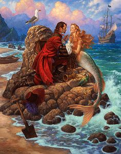 Artwork © 2012, Scott Gustafson. All rights reserved. The Pirate and the Mermaid