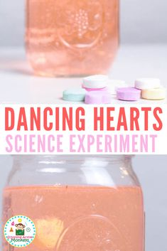 Love Valentine's Day? You'll have a blast with this dancing conversation heart Valentine science project! Science Experiments For Preschoolers, Math Activities For Kids, Science Activities For Kids, Stem Science, Preschool Science, Science For Kids, Science Projects, Projects For Kids, Elementary Science