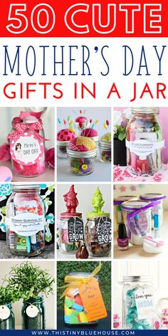 are you looking for the perfect personalized DIY gift for Mom this year? Here are over 50 super thoughtful and creative Mother's Day Gifts In a Jar that are the perfect way to make Mom feel extra special. Diy Gifts In A Jar, Mason Jar Gifts, Mason Jar Diy, Homemade Gifts, Gifts For Kids, Easy Diy Mother's Day Gifts, Cute Mothers Day Gifts, Mothers Day Crafts, Mother Gifts