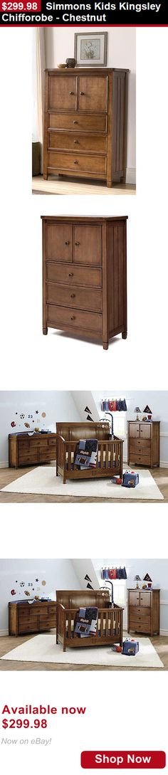 Nursery Furniture Sets: Simmons Kids Kingsley Chifforobe - Chestnut BUY IT NOW ONLY: $299.98