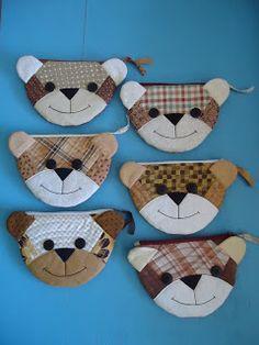 bear zipper pouches