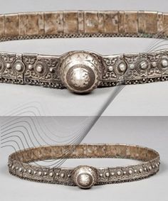 Caucus | Old silver and leather belt.  L:  80 cm | Est. 400 - 600€ ~ Nov '15 // 136044702434