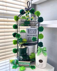 32 inspiring tiered trays for Easter, St Patricks Day, and Spring St Patricks Day Crafts For Kids, Tray Styling, Selling Handmade Items, St Patrick's Day Decorations, Easter Season, Vintage Market, Tray Decor, Seasonal Decor, Diy And Crafts