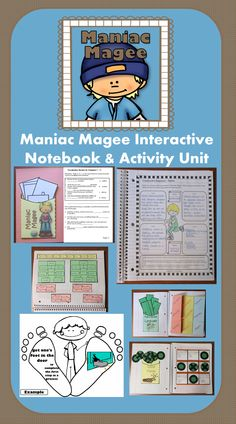 Maniac Magee Interactive Notebook & Activity Unit contains graphic organizers for an interactive notebook and game activities covering vocabulary, constructive response writing, and skill practice.$