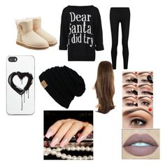 """""""Santa I did try"""" by skyeacker9 on Polyvore featuring Donna Karan, UGG Australia and Zero Gravity"""