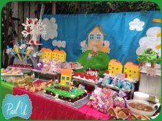 Paal Uh. Mesa de Postres : Snack's : dulces : botanas : candy bar : Sweet : wedding : Shower :  dessert table : decor : celebración : party : barra : peppa pig :