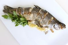 yes awesome test of Grilled fish i recommend you to test it once. As Grilled Fish is one of the healthiest meat, add it in your diet plan as there are 123 calories in 1 fillet of Grilled Fish. Primal Recipes, Gf Recipes, Seafood Recipes, Healthy Dinner Recipes, Free Recipes, Primal Blueprint Diet, Trout Recipes, Seafood Platter, Fish Dishes