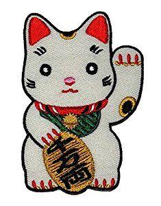 Amazon.com: Cute Maneki-neko Japan Japanese Lucky Cat DIY Embroidered Sew Iron on Patch: Arts, Crafts & Sewing