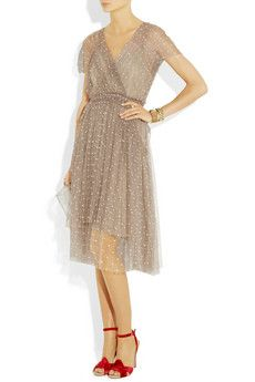 lela rose polka-dot tulle dress.