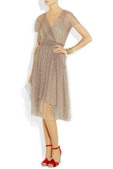 lela rose polka-dot tulle dress.