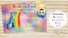 Inside out Birthday Invitation  Inside out by ElfsWorkshopDesign