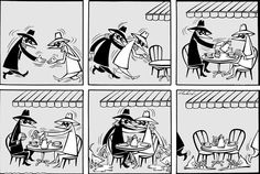 Here is the very first Spy vs. Spy that appeared in MAD magazine by Antonio Prohías. - Read more here: http://belatednerd.com/tag/antonio-prohias/