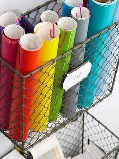 This would work well as a place to store wrapping paper - and wrapping supplies.  And, it looks really good too!