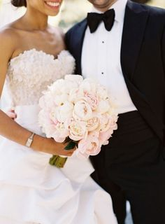 Soft blush peonies for your wedding bouquet? Perfection! #weddingbouquets