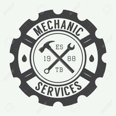 Everything You Need To Know About Auto Repair Logo Garage, Mechanical Engineering Logo, Mechanic Tattoo, Motorcycle Logo, Car Logos, Shop Logo, Logo Design Inspiration, Hand Lettering, Company Logo