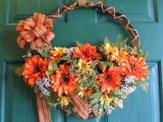 Fall Door Basket Fall Wreath by JansByDesign on Etsy