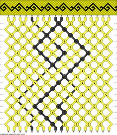 Friendship bracelet pattern 17712 - 18 strings, 2 colours