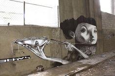 Street art by Claudio Ethos