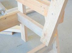 Free Patio Chair Plans - How to Build a Double Chair Bench with Table French Dining Chairs, Fabric Dining Chairs, Patio Chairs, Patio Bench, Chair Fabric, Ikea Chair, Chair Bench, Diy Chair, Swivel Chair