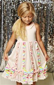 Lemon Loves Lime - Butterfly Bow Dress in Powder Puff