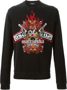 af6a6b1bfcfa DSQUARED2 matrioska print sweatshirt.  dsquared2  cloth  sweatshirt Printed  Sweatshirts, Dsquared2,