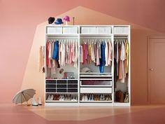 Schrank ikea pax  PAX Kleiderschrank, weiß, Bergsbo Frostglas | Pax wardrobe, Soft ...