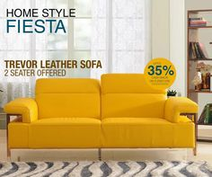 Don't be ashamed to snug like a bug on the sofa. #EvokHomes #Furniture #HomeStyleFiesta