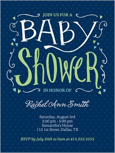 Sweet Expectation Boy Baby Shower Invitation - Just ordered this for a friend - so cute and affordable, even with expedited shipping!