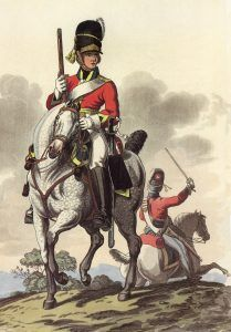 Royal Scots Greys 2nd Dragoons: Battle of Waterloo 18th June 1815: picture by Charles Hamilton Smith: