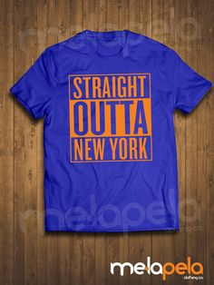 806435b0b32839 Straight Outta NEW YORK (Knicks and Mets Colored T-Shirt) Adult Sizes New