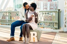Initials are an easy engagement session extra and look great propped in photos. Engagement Inspiration, Wedding Inspiration, Wedding Photography And Videography, Street Photo, Bridal Boutique, Engagement Session, Looks Great, Initials, Photo And Video