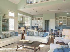 coastal-inspired family room