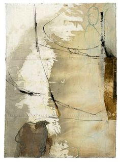 Mountain Ridge - Fran Skiles   Mixed media, canvas, paper, silk, stitching
