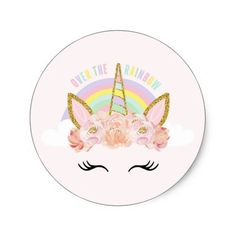 Shop Unicorn Pink & Gold Party Favor Tag Sticker Seal created by blush_printables. Pink Gold Party, Gold Birthday Party, Pink Birthday, Unicorn Birthday Parties, Unicorn Party, Pink And Gold, Party Favor Tags, Party Favors, Party Gifts