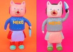 Creepy New Cat Toys from Yukinori Dehara.