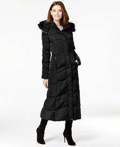 Calvin Klein Faux-Fur-Trimmed Hooded Down Coat | GIGI'S FALL and ...
