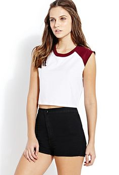 Sporty Colorblocked Crop Top | FOREVER 21 - 2000090841
