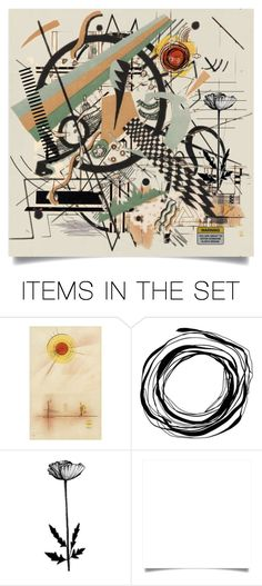 """Where the Sidewalk Ends, Homage to Kandinsky"" by haikuandkysses ❤ liked on Polyvore featuring art"