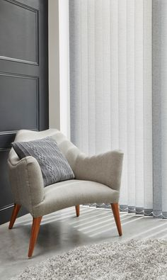 Make the most of using grey to create a new neutral decor, mix different textures and shades to make a lovely tonal look. Made to measure Grey Vertical blinds are perfect for this look. Dream Furniture, Cool Furniture, Furniture Design, Living Room Inspiration, Home Decor Inspiration, Home Interior Design, Interior Decorating, New Room, Home Furnishings