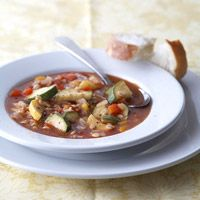 Slow Cooker Barley-Vegetable Soup {Substitute Vegetable Broth Instead Of Chicken Broth}