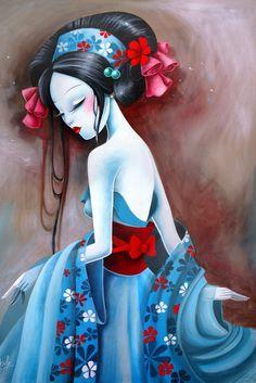 ❈ Geisha by Sky ❈ Art And Illustration, Illustrations, Arte Pop, Art Graphique, Asian Art, Japanese Art, Female Art, Art Girl, Amazing Art