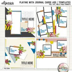 Playing With Journal Cards #05 by Akizo Designs | Digital Scrapbooking Template
