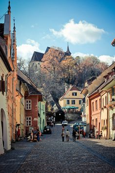 Sighisoara, Romania... walked this road so many times while over there!