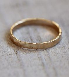 Hammered Wedding Band <3 With a personal engraving it would be so special