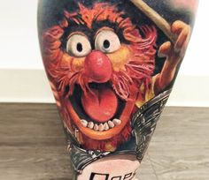 Animal from Muppets tattoo by Jesse Rix