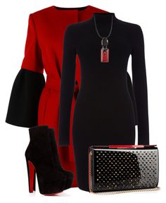 """""""Red and Black Winter"""" by lchar ❤ liked on Polyvore featuring Albino, Phase Eight, Christian Louboutin and Marni"""